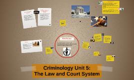 Criminology: Unit 5