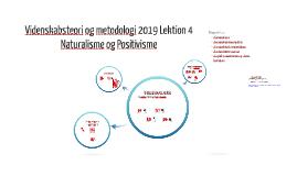 Videnskabsteori og metodologi 2013 Lektion 5