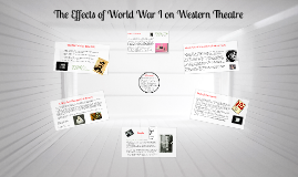The Effects of World War I on Western Theatre