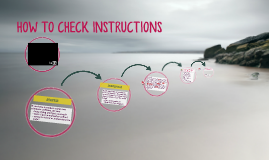 HOW TO CHECK INSTRUCTIONS