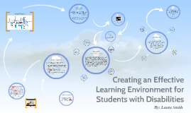 Creating an Effective Learning Environment for Students with