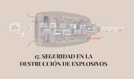 17. SEGURIDAD EN LA DESTRUCCIÓN DE EXPLOSIVOS