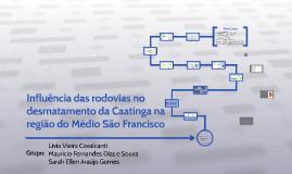 Influencia das rodovias na área de caatinga do Médio São Fra