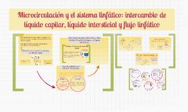Microcirculación y el sistema linfático: intercambio de líquido capilar, líquido intersticial y flujo linfático