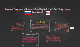 Language Comparison of Russian  (L1) and English (L2) with C
