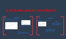 6.06 Scatter plots & Line of Best Fit