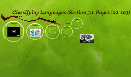 Classifying Languages (Section 5.1: Pages 102-103