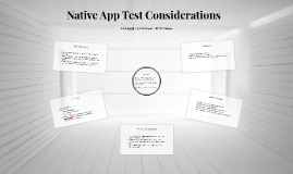 Native App Test Considerations