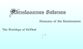 Renaissance Science