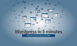 Wordpress in 5 minutes