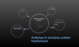 Anularea actelor frauduloase