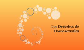Los Derechos de Homosexuales