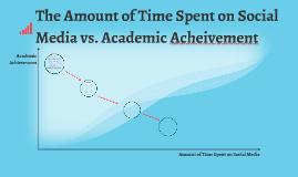 The Amount of Time Spent on Social Media vs. Academic Acheiv
