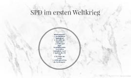SPD im ersten Weltkrieg