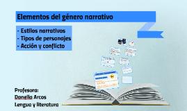 Copy of Elementos del género narrativo