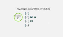 Copy of Fase 2. Aplicación de la Cédula para la valoración de las condiciones básicas para la enseñanza y el aprendizaje