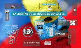 LA LIBERTAD DE EXPRESIÓN EN VENEZUELA