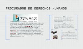 PROCURADOR DE DERECHOS HUMANOS
