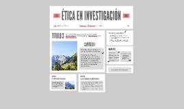 ETICA EN INVESTIGACIÓN