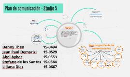 Plan de comunicación - Estudio 5