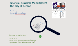 Financial Resource Management in the City of Denton