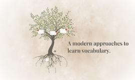 A modern approaches to learn vocabulary.