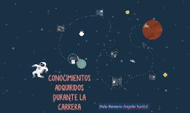 CONOCIMIENTOS ADQUIRIDOS DURANTE LA CARRERA