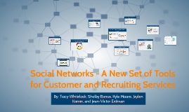 Social Networks - A New Set of Tools for Customer and Recrui