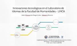 Innovaciones tecnológicas en el Laboratorio de Idiomas de la