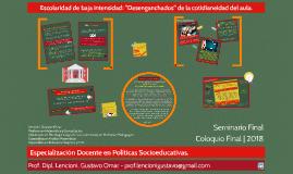 Especialización Docente en Políticas Socioeducativas - Prof. Dipl. Lencioni, Gustavo Omar