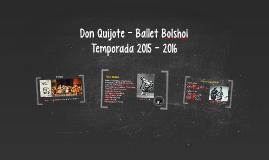Don Quijote - Ballet Bolshoi
