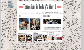 Terrorism in Today's World