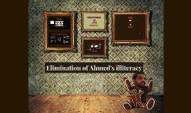 Elimination of Ahmed's illiteracy