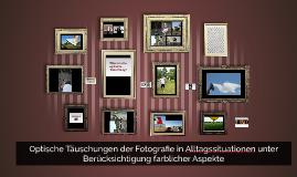 Optische Täuschungen der Fotografie in Alltagssituationen un