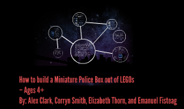 How to build a Miniature Police Box out of LEGOs