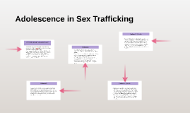 Adolescence in Sex Trafficking