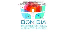 ERGONOMIA PARA CAIXAS DE SUPERMERCADO