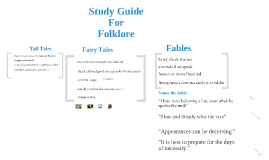 Study Guide for Folklore