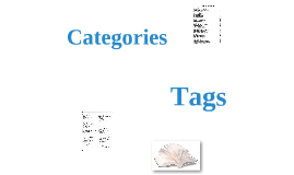 Tags vs. Categories