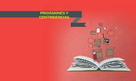 PROVISIONES Y CONTINGENCIAS