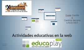 Actividades educativas en la web