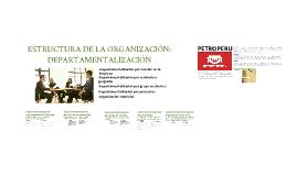 Copy of ESTRUCTURA DE LA ORGANIZACIÓN POR DEPARTAMENTALIZACION