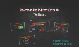 Understanding Indirect Costs