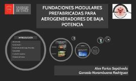 FUNDACIONES MODULARES PREFABRICADAS PARA AEROGENERADORES DE