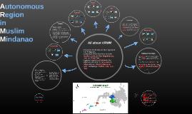 Copy of Autonomous Region in Muslim Mindanao (ARMM)
