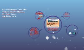 SA - Final Project - Part VIII: Tsunami Disaster Planning