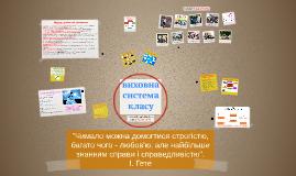 Copy of Виховна система класу