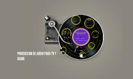 PRODUCCION DE AUDIO PARA RADIO Y TV