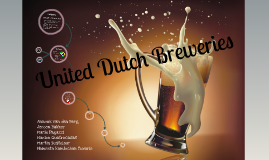 United Dutch Breweries Export Project
