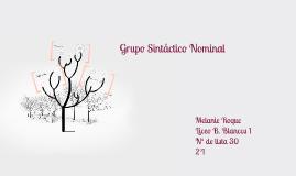 Grupo Sintáctico Nominal